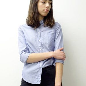 ARITZIA | Talula Blue Oxford Shirt Small